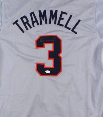 Alan Trammell Autographed Signed Detroit Tigers Jersey JSA