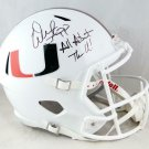 Warren Sapp Signed Autographed Miami Hurricanes Full Size Helmet BECKETT