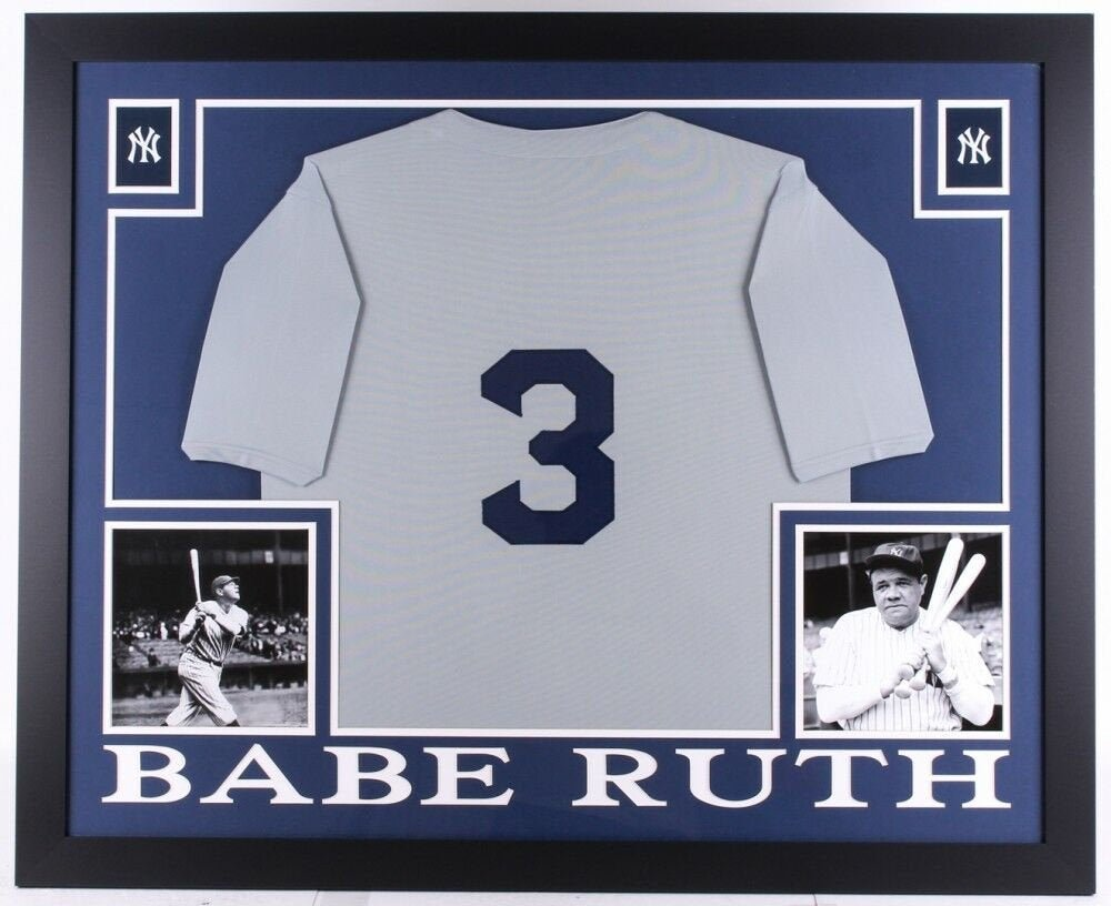 Babe Ruth Framed New York Yankees Jersey (Unsigned)