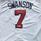 Dansby Swanson Autographed Signed Atlanta Braves Majestic Jersey JSA