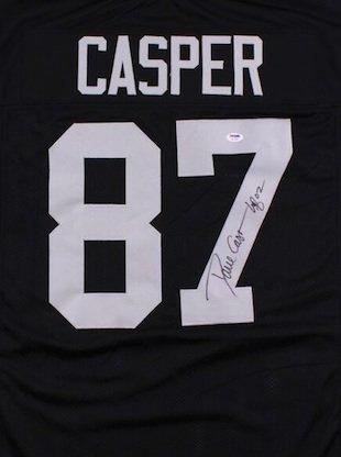 Dave Casper Signed Autographed Oakland Raiders Jersey JSA