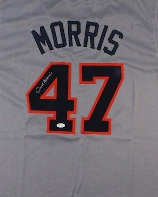 Jack Morris Signed Autographed Detroit Tigers Jersey JSA