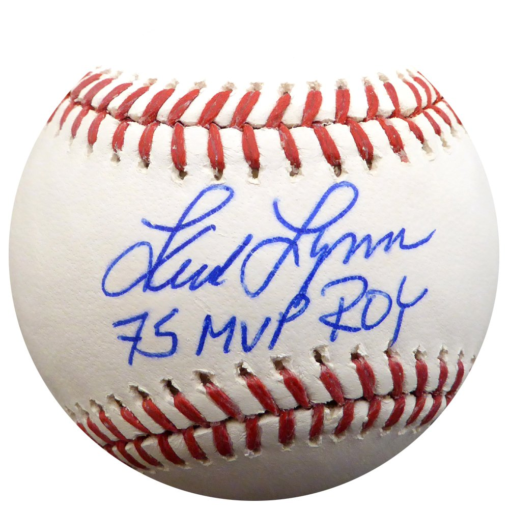Fred Lynn Boston Red Sox Signed Autographed Baseball PSA