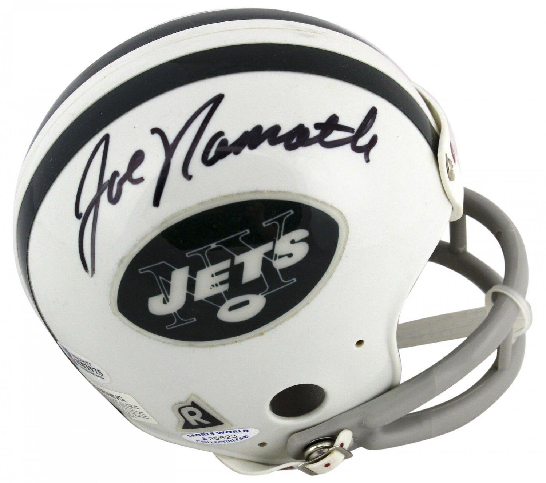 Joe Namath Don Maynard Autographed Signed New York Jets Mini Helmet BECKETT