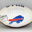 Jim Kelly Autographed Signed Buffalo Bills Logo Football JSA