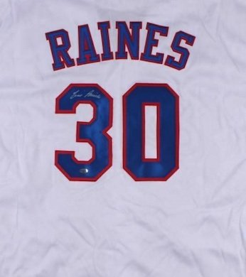 Tim Raines Autographed Signed Montreal Expos Jersey LEAF COA