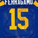 Vince Ferragamo Autographed Signed Los Angeles Rams Jersey JSA