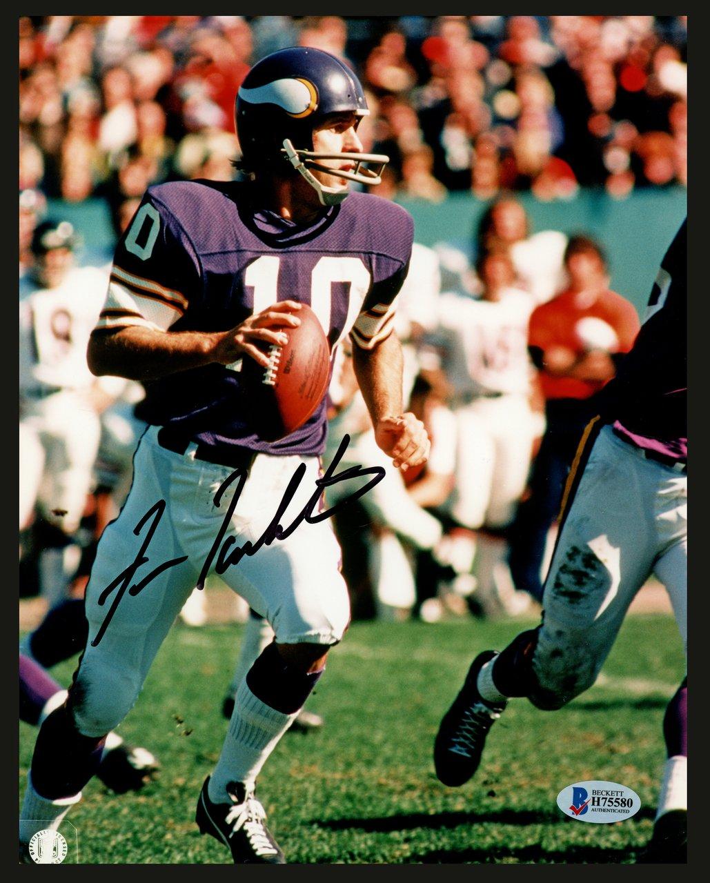 Fran Tarkenton Minnesota Vikings Autographed Signed 8x10 Photo BECKETT