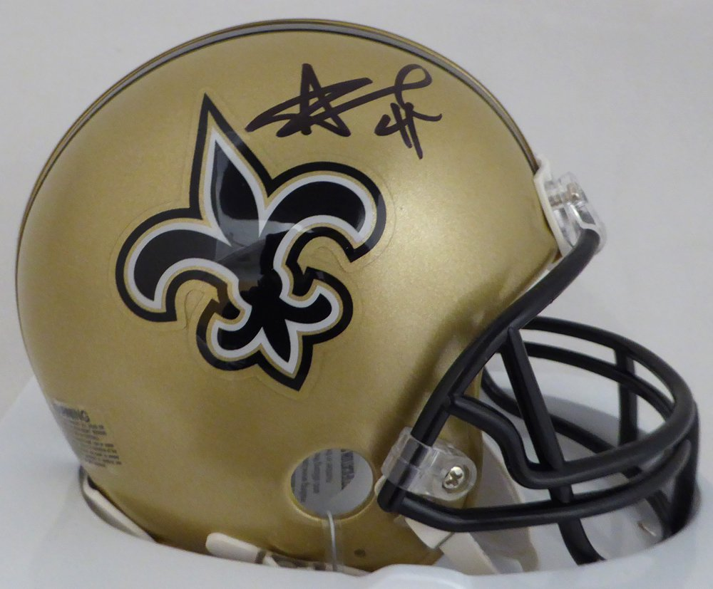 Alvin Kamara Autographed Signed New Orleans Saints Mini Helmet BECKETT