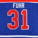 Grant Fuhr Autographed Signed Edmonton Oilers Hockey Jersey JSA