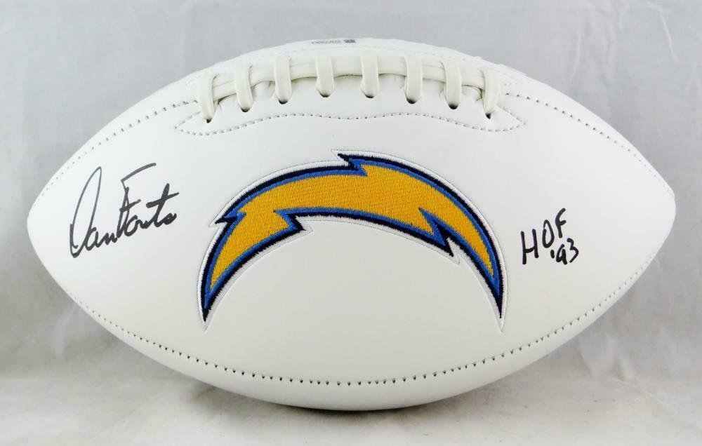 Dan Fouts Autographed Signed San Diego Chargers Logo Football BECKETT