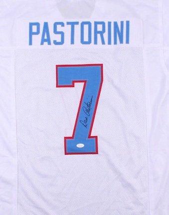 Dan Pastorini Signed Autographed Houston Oilers Jersey JSA