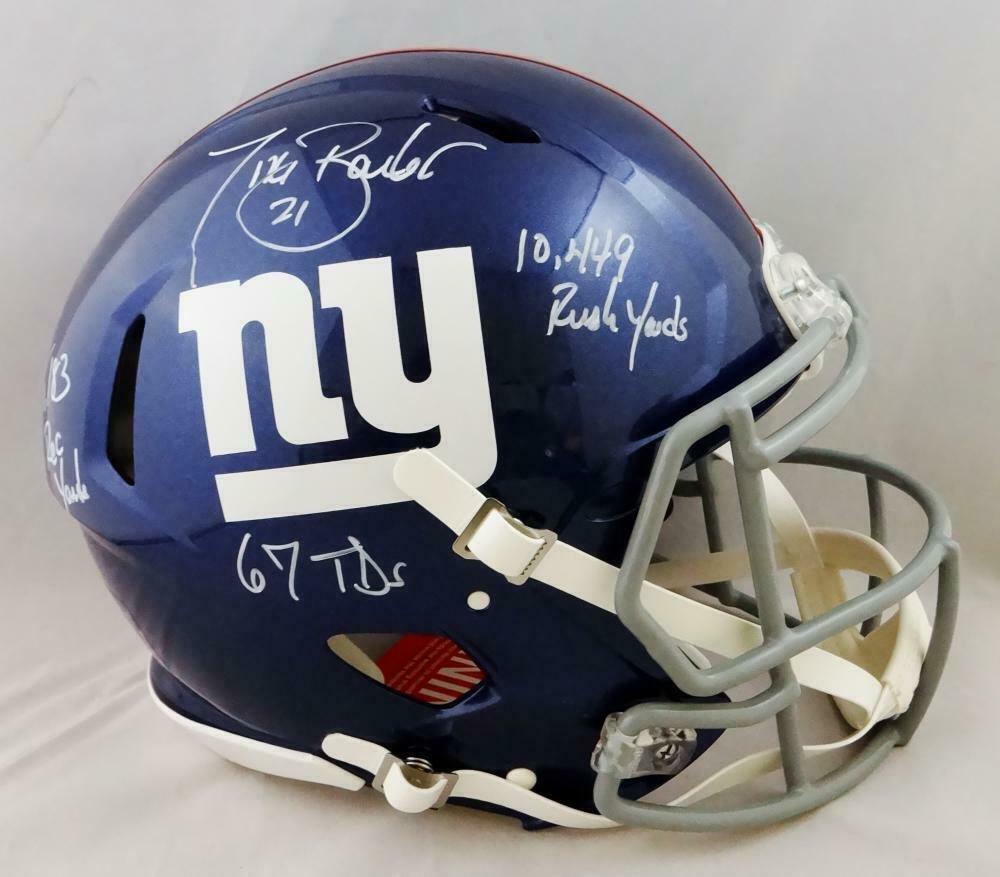 Tiki Barber Autographed Signed New York Giants FS Speed Proline Helmet JSA