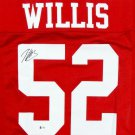 Patrick Willis Autographed Signed San Francisco 49ers Jersey BECKETT