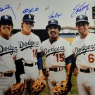 Garvey Cey Russell Lopes Dodgers Autographed Signed 16x20 Photo JSA