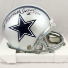 Ed Too Tall Jones Autographed Signed Dallas Cowboys Mini Helmet JSA