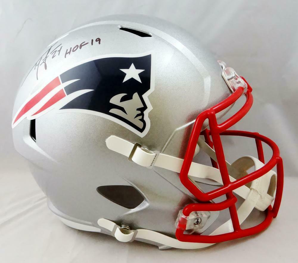 Ty Law Autographed Signed New England Patriots FS Helmet BECKETT