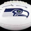 Steve Largent & Jim Zorn Autographed Signed Seattle Seahawks Logo Football BECKETT