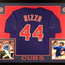 Anthony Rizzo Autographed Signed Framed Chicago Cubs Jersey JSA