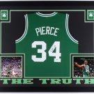 Paul Pierce Autographed Signed Framed Boston Celtics Jersey BECKETT
