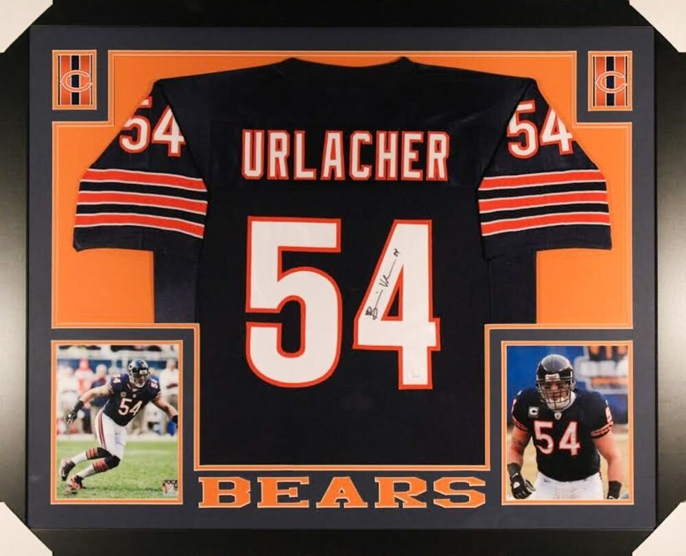 Brian Urlacher Autographed Signed Framed Chicago Bears Jersey JSA