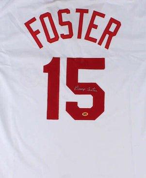 George Foster Signed Autographed Cincinnati Reds Jersey COA
