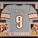 Matthew Stafford Autographed Signed Framed Detroit Lions Jersey GTSM COA