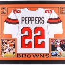 Jabrill Peppers Autographed Signed Framed Cleveland Browns Jersey JSA