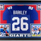 Saquon Barkley Autographed Signed Framed New York Giants Jersey BECKETT