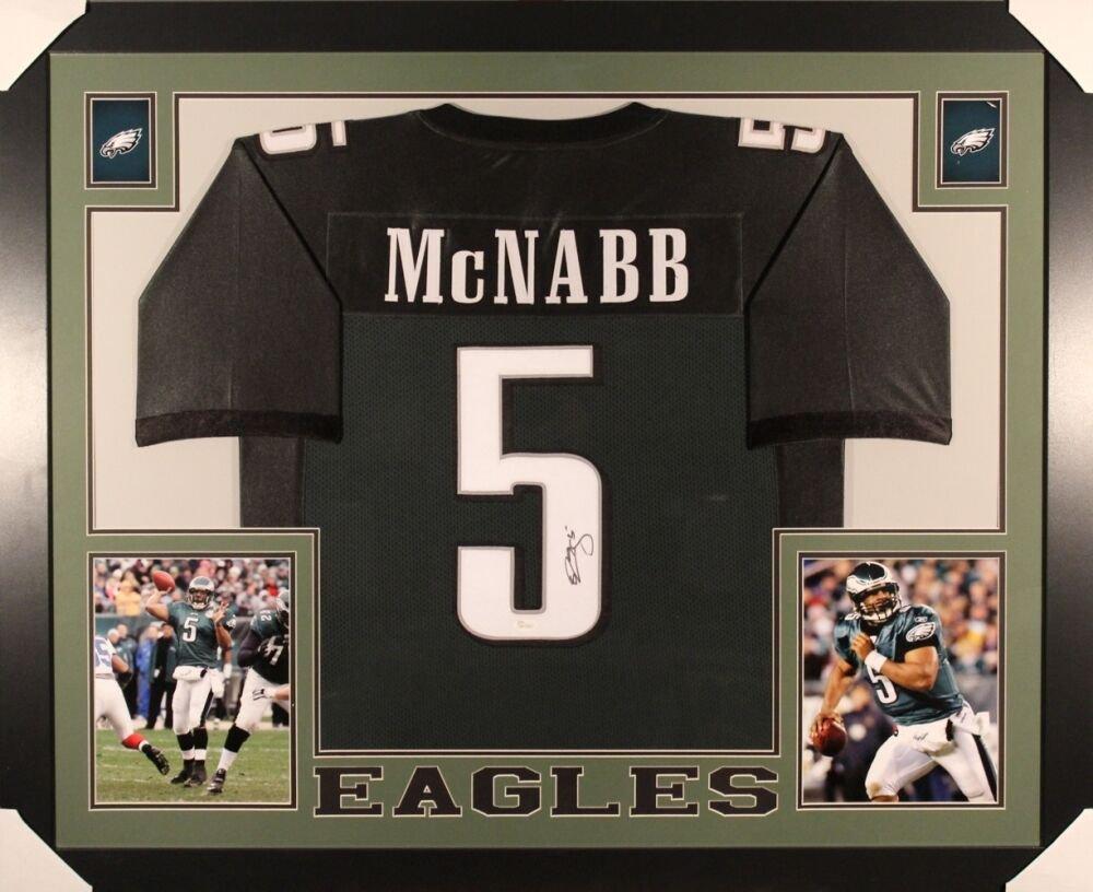 Donovan McNabb Autographed Signed Framed Philadelphia Eagles Jersey JSA