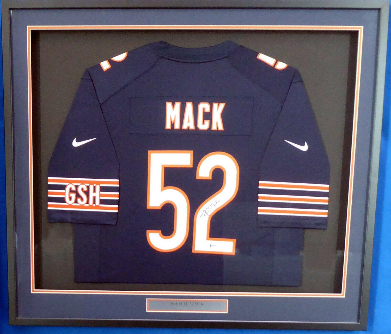 Khalil Mack Signed Autographed Chicago Bears Framed Nike Jersey BECKETT