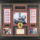 Enzo Ferrari Autographed Signed Framed Letter Collage BECKETT