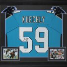 Luke Kuechly Autographed Signed Framed Carolina Panthers Jersey BECKETT