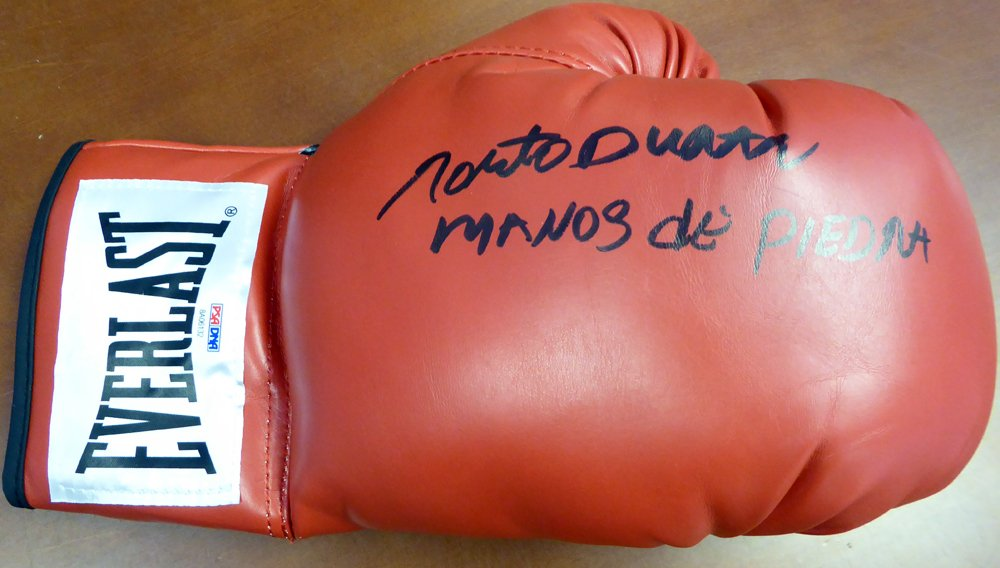 Roberto Duran Autographed Signed Everlast Boxing Glove PSA