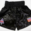 Mike Tyson Autographed Signed Black Boxing Trunks JSA