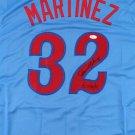 Dennis Martinez Autographed Signed Montreal Expos Jersey JSA
