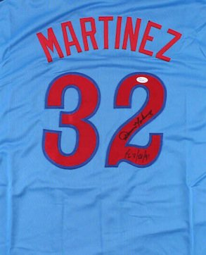 Dennis Martinez Autographed Signed Montreal Expos Jersey JSA