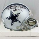 Randy White Autographed Signed Dallas Cowboys Mini Helmet JSA