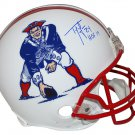 Ty Law Autographed Signed New England Patriots FS TB Helmet BECKETT