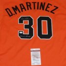 Dennis Martinez Autographed Signed Baltimore Orioles Jersey JSA