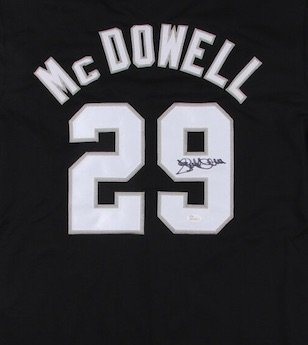 Jack McDowell Signed Autographed Chicago White Sox Jersey JSA