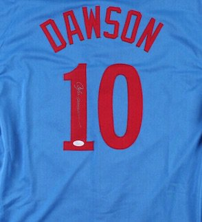 Andre Dawson Signed Autographed Montreal Expos Jersey JSA