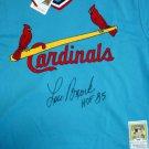 Lou Brock Autographed Signed St Louis Cardinals M&N Jersey PSA
