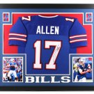 Josh Allen Autographed Signed Framed Buffalo Bills Jersey JSA