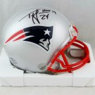 Ty Law Autographed Signed New England Patriots Mini Helmet BECKETT