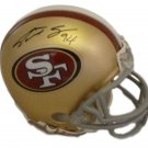 Justin Smith Signed Autographed San Francisco 49ers Mini Helmet JSA