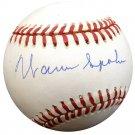 Warren Spahn Milwaukee Braves Signed Autographed Baseball BECKETT