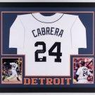 Miguel Cabrera Autographed Signed Framed Detroit Tigers Jersey JSA