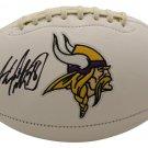 Adrian Peterson Autographed Signed Minnesota Vikings Logo Football BECKETT