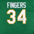 Rollie Fingers Autographed Signed Oakland Athletics Jersey JSA